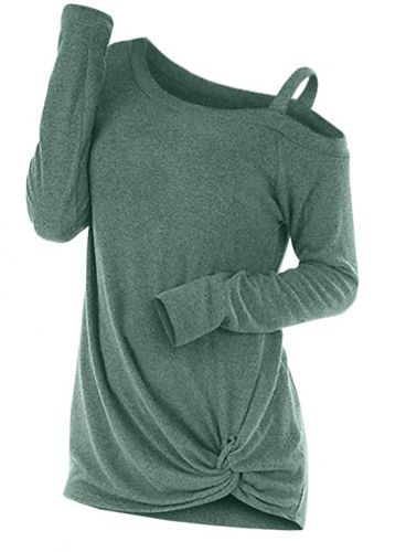 Knotted Skew Neck Top