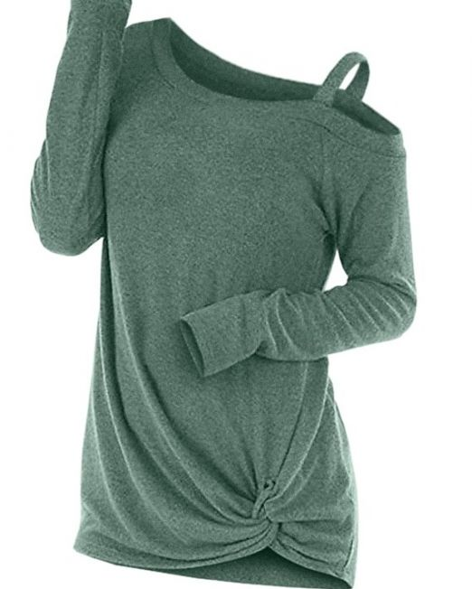 ROSEGAL-Fashion-Spring-Autumn-Knotted-Skew-Neck-Sweater-Cut-Out-Women-Long-Sleeve-Solid-Pullovers-Tops