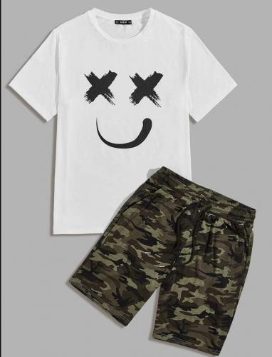Men's Camo Shorts & Tee Set