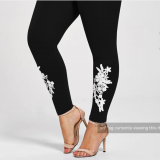 Leggings with Embroidery Detail