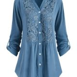 Plus Embroidered Blouse