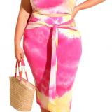 Tie Dye Crop Top Bodycon Skirt Set